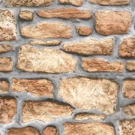 Pellicola adesiva muro pietra marrone 45 cm x 2 m