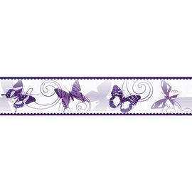 Bordo Farfalle viola 5 m