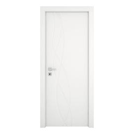 Porta da interno battente Dna Laccato Bianco 80 x H 210 cm reversibile