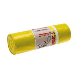 Sacco rifiuti Lacciosac 120 x 80 cm giallo 10 pezzi