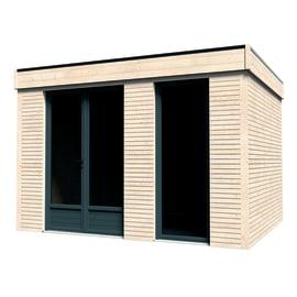 casetta in legno grezzo Decor Home 9 8,71 m², spessore 90 mm