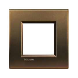 Placca 2 moduli BTicino Livinglight bronzo