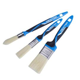 Kit di 3 pennelli Dexter 2 piatti 20-40 mm 1 tondo 15 mm