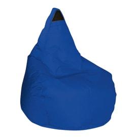 Cuscino pouf Pera idrorepellente blu 100 x 70 cm