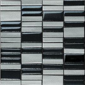 Mosaico Fusion acciao mix 31,6 x 31,6 cm grigio