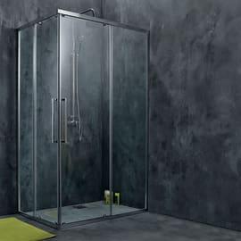 Box doccia scorrevole Purity 77.5-79 x 77-80, H 195 cm cristallo 6 mm trasparente/silver