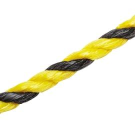 Corda in polipropilene giallo/nero con segnalino