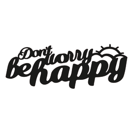 Scritta Be Happy