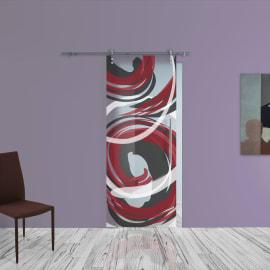 Porta da interno scorrevole Energy/binario Lux 88 x H 215 cm sx