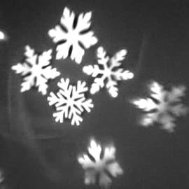 Proiettore fiocchi di neve 1 Led bianca fredda
