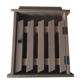 Bacheca porta chiavi Cancello 6 posti noce 24 x 5 x 29 cm