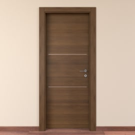 Porta da interno battente Tussauds Cacao 60 x H 210 cm sx