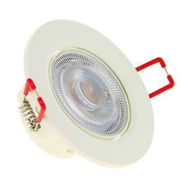Faretto da incasso Switch bianco LED integrato orientabile rotondo Ø 8,6 cm 6,5 W = 345 Lumen luce calda