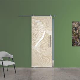 Porta da interno scorrevole Grafic 3/binario Ermes 88 x H 215 cm sx