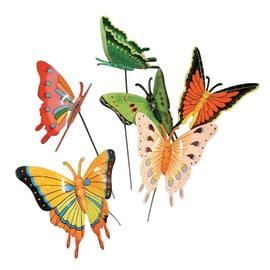 Decorazione pick Farfalla colori assortiti 13 x 10 cm
