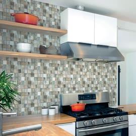 Rivestimento decorativo Mosaico bianco/grigio