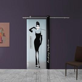 Porta da interno scorrevole Audrey 88 x H 220 cm dx