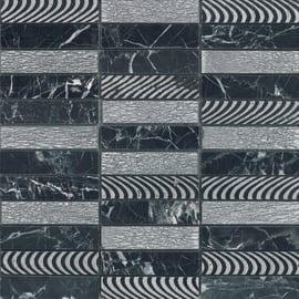 Mosaico Ardesia 30 x 30 cm nero, argento