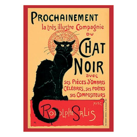 Poster Chat noir 61 x 91,5 cm