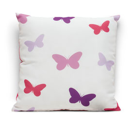 Cuscino Farfalle rosa 40 x 40 cm