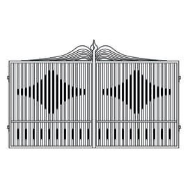 Cancello verniciato Fuji L 350 x H 180/200 cm