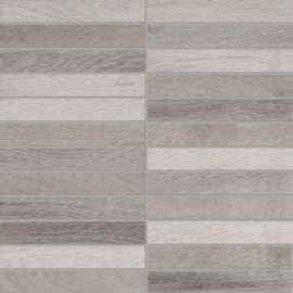 Mosaico Visual Wood 30 x 30 cm grigio