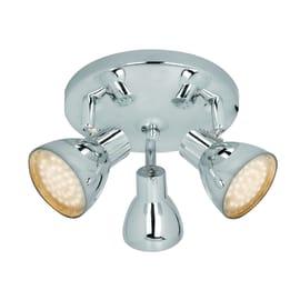 Plafoniera a 3 luci Iki cromo LED integrato