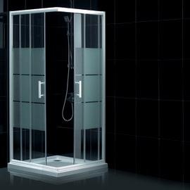 Box doccia scorrevole Optima 77-79 x 117-119, H 190 cm cristallo 5 mm serigrafato/cromo