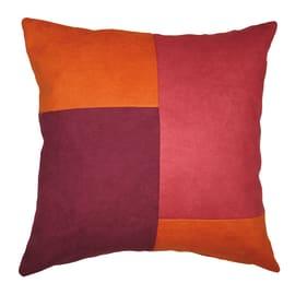 Cuscino grande Patchwork arancione 60 x 60 cm