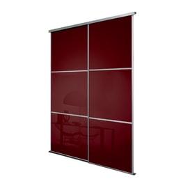 Kit 2 ante Washington rosso bordeaux L 120 x H 270 cm