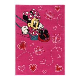 Tappeto Minnie on swing premium multicolore 133 x 190 cm