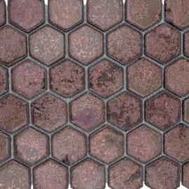 Mosaico Esagona 28,5 x 24,5 cm rosso, marrone