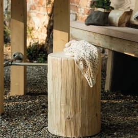 Tronco tondo legno Ø 25 - 30 x H 45 cm grezzo