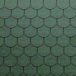 Tegole canadesi coda di castoro Onduline Bardoline Pro verde in bitume 100 x 34  cm, spessore 3,4 mm
