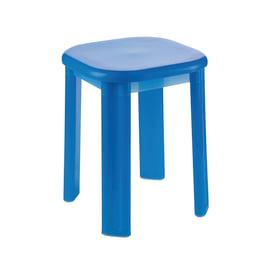Sgabello Eos blu semitrasparente