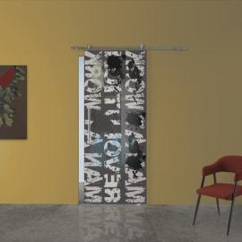Porta da interno scorrevole Carpet 2/binario Lux 88 x H 215 cm dx