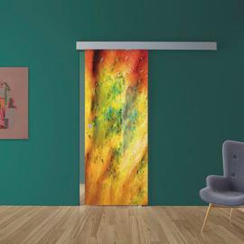 Porta da interno scorrevole Astratto 88 x H 215 cm reversibile