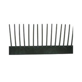 Pettine parapassero Onduline nero in PVC 100 x 6,5 cm
