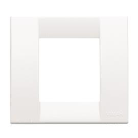 Placca 2 moduli Vimar Idea bianco brillante