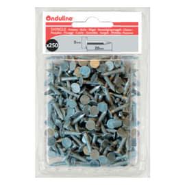 Chiodi per tegole canadesi Onduline grigio ø 3 x 20 mm, confezione da 250 pezzi