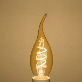Lampadina decorativa LED Lexman E14 =16W colpo di vento luce calda 360°