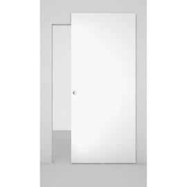 Porta da interno scorrevole Space binario nascosto laminato bianco 101 x H 230 cm dx