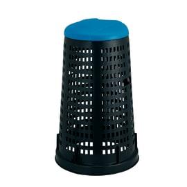 Trespolo con coperchio nero e blu satinato 100 L