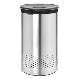 Portabiancheria Laundry Bin coperchio acciaio grigio 60 L