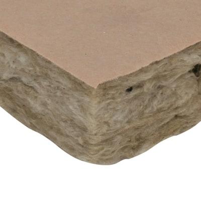 rotolo in lana di roccia con carta kraft con rivestimento