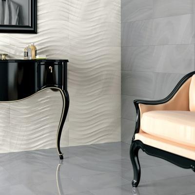 Piastrella regal 25 x 60 cm grigio prezzi e offerte online leroy merlin for Costo posa piastrelle bagno