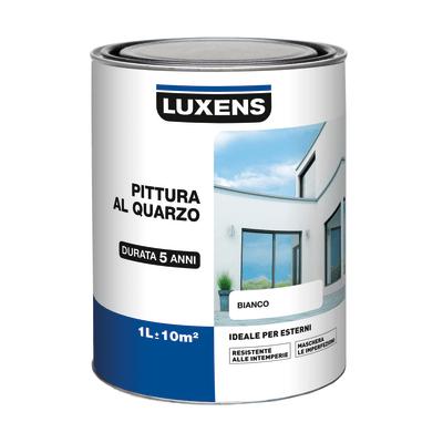 pittura al quarzo per esterno luxens bianco 1 l prezzi e