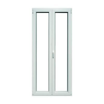 Portafinestra pvc bianco l 100 x h 220 cm prezzi e offerte for Inferriate per finestre leroy merlin
