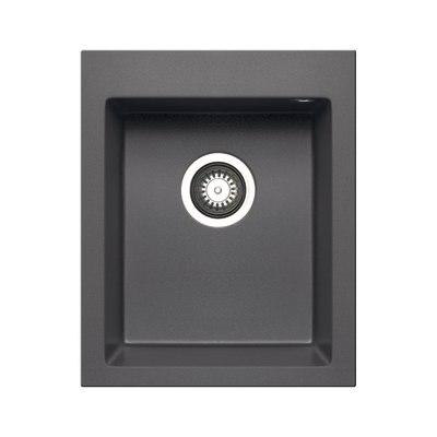 Lavello incasso voyager grigio ferro l 41 x p 50 cm 1 for Rubinetti lavello leroy merlin
