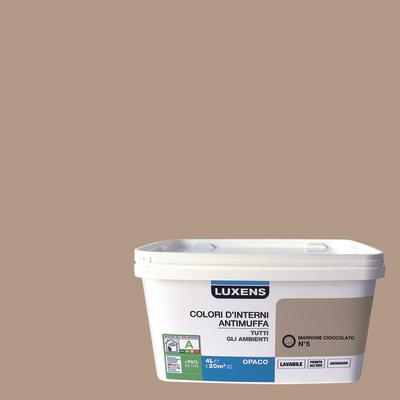Idropittura lavabile antimuffa marrone cioccolato 5 4 l for Antimuffa leroy merlin
